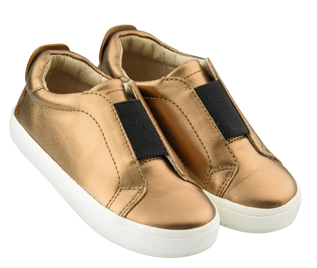 Old Soles Boy's and Girl's Peak Sneaker Shoe, Old Gold/White