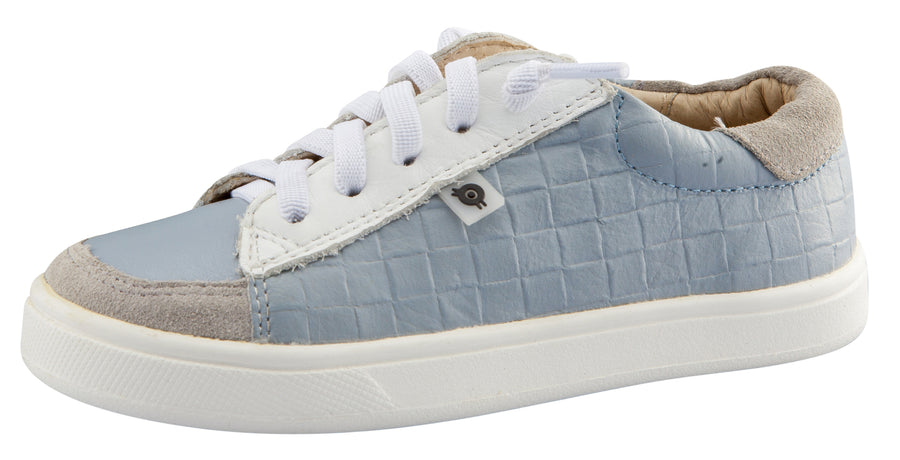 Old Soles Boy's Department Shoe Leather Sneakers, Dusty Blue