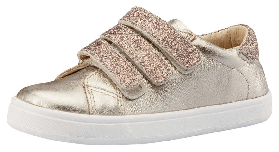Old Soles Girl's Edgy Markert Sneakers, Titanium / Glam Choc