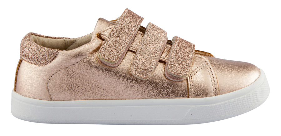 Old Soles Girl's Edgy Markert Leather Sneakers, Copper Glam