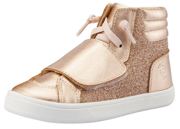 Old Soles Girl's O-Glam Sneakers, Glam Copper / Copper