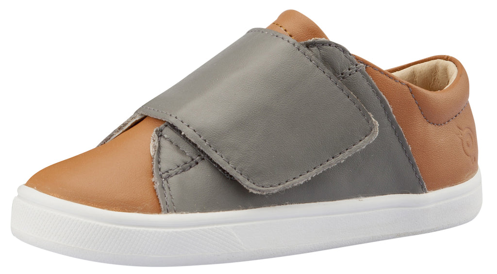 Old Soles Girl's and Boy's Peezy Sneakers, Grey / Tan