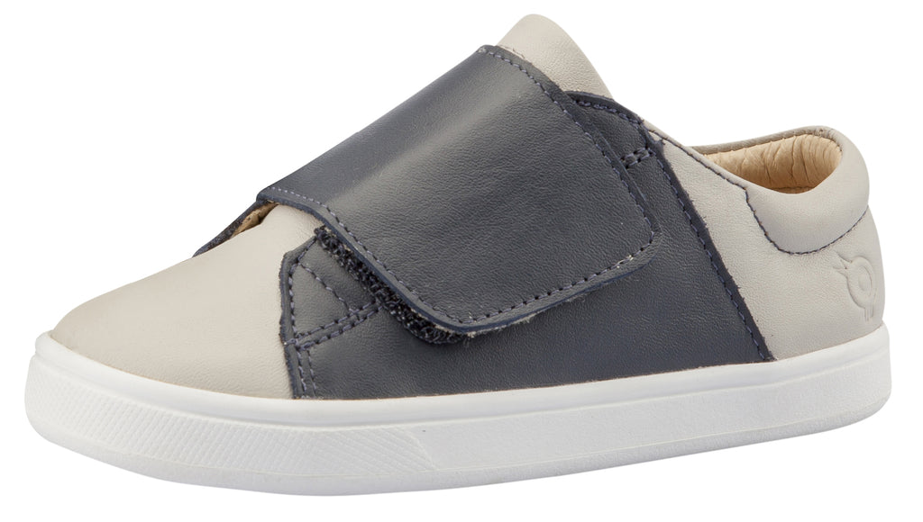 Old Soles Girl's and Boy's Peezy Sneakers, Navy / Gris