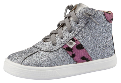 Old Soles Girl's Glamourama Sneakers, Glam Gunmetal / Cat-Bordo