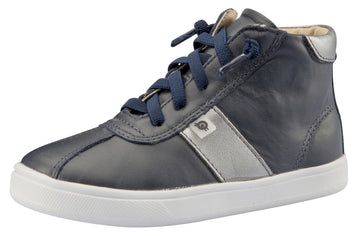 Old Soles Girl's and Boy's Glamourama Sneakers, Navy / Rich Silver