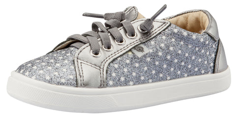 Old Soles Girl's Star Jogger Sneakers, Star Glam Gunmetal