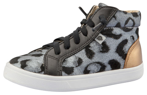 Old Soles Girl's Cat Jogger Sneakers, Cat-Silver / Black / Old Gold