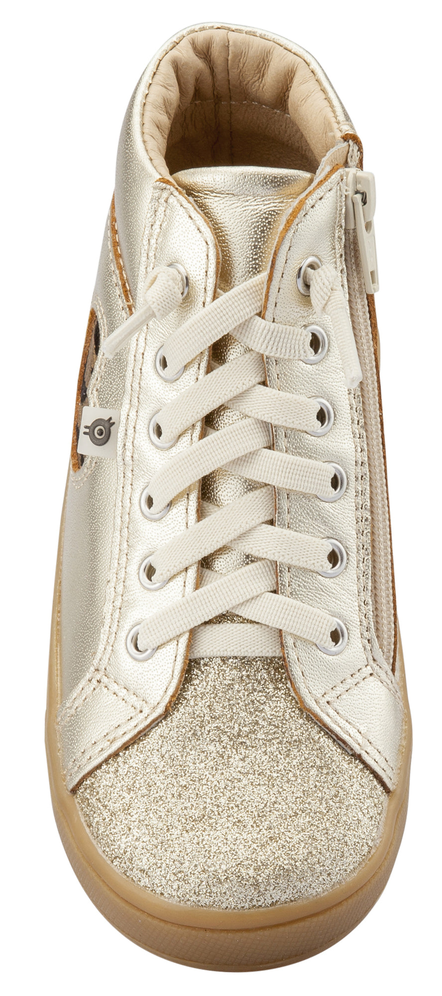 Old Soles Girl's Hearty Cat Sneakers, Gold / Glam Gold / Cat-Gold