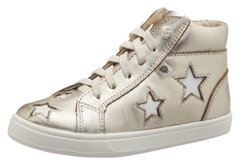 Old Soles Girl's and Boy's Starey High Top Sneaker, Gold/Snow