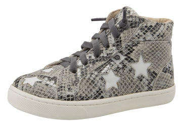 Old Soles Girl's & Boy's Starey High Top Sneaker - Grey Serp/Snow