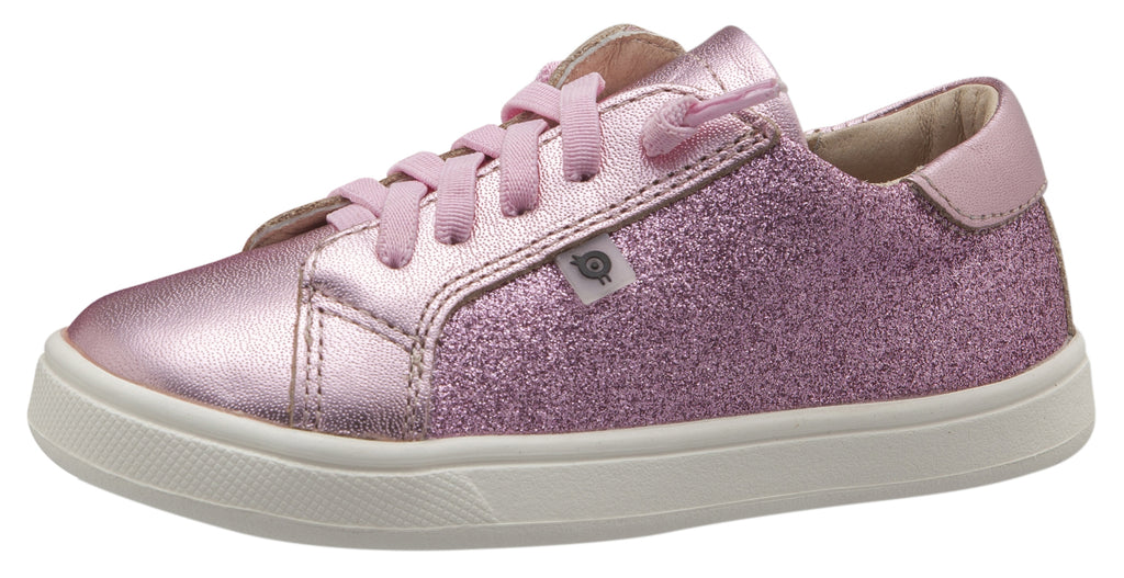 Old Soles 6086 Girl's Ring Runner Shoe, Glam Pink/Pink Frost