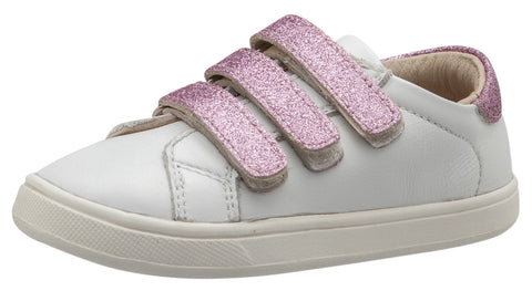 Old Soles Girl's Glam Markert Sneakers, Snow / Glam Pink