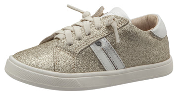 Old Soles Girl's Glambo Leather Sneakers, Glam Gold/Snow/Silver/Gold