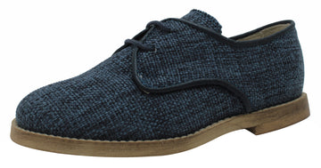 Oca-Loca Boy's Oxford Textile Dress Shoe - Navy