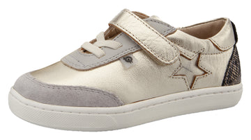 Old Soles Boy's & Girl's 6103 You Beaut Sneakers - Gold/Gris/Brown Serp