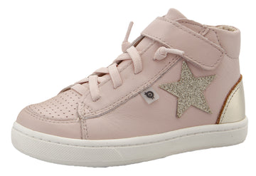 Old Soles Girl's 6104 Champster Sneakers -Powder Pink/Glam Gold/Gold