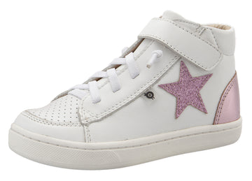 Old Soles Girl's 6104 Champster Sneakers - Snow/Glam Pink/Pink Frost