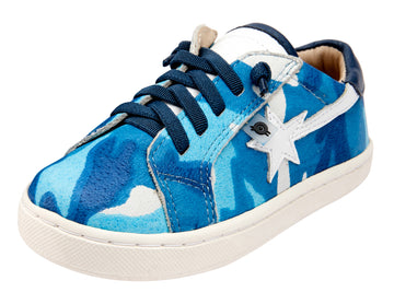 Old Soles Girl's and Boy's 6111 Shooting Star Sneaker Shoes - Sky Camo/Snow/Jeans