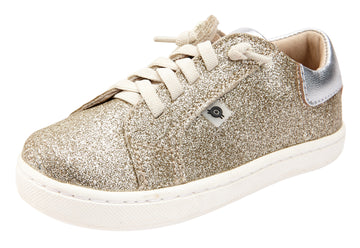Old Soles 6114 Girl's The Throne Sneaker Shoe - Glam Gold/Silver/Silver