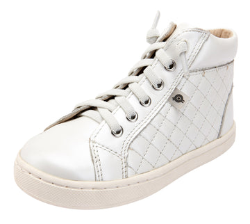 Old Soles Girl's 6115 Plush High Top Sneakers - Nacardo Blanco
