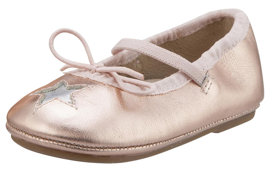 Old Soles Girl's Leather Cruise Star Mary Jane (Copper/Silver)