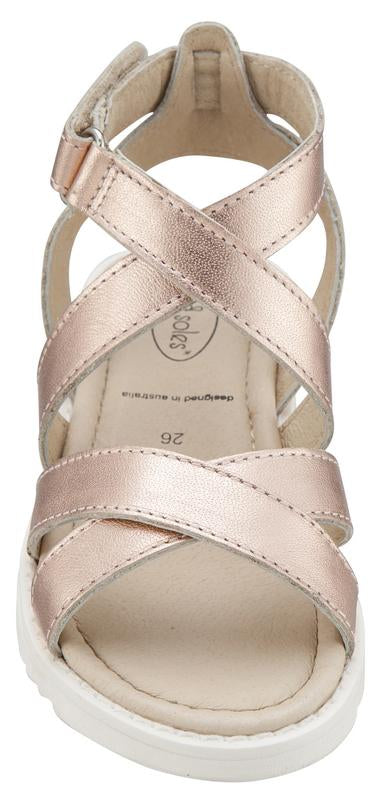 Old Soles Girl's Copper Magnolia Leather Sandals