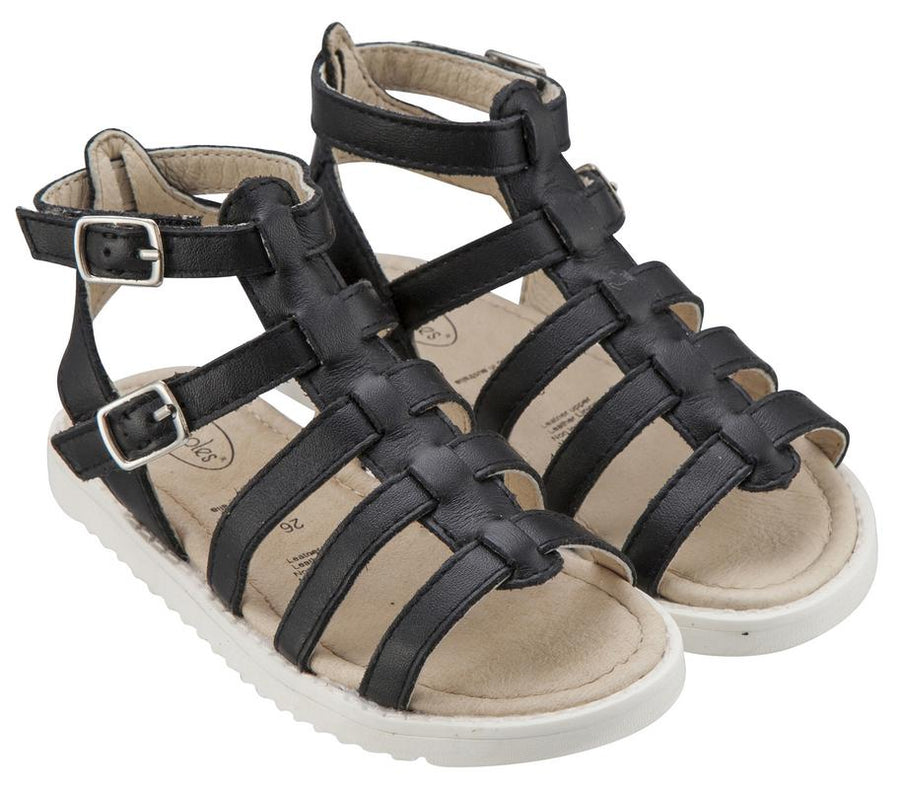 Old Soles Girl's Black Gladi-Girl Leather Sandals