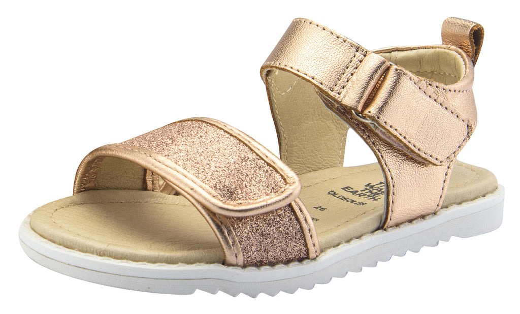 Old Soles Girl's Glam Tish Leather Sandals, Glam Copper