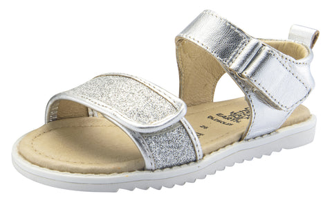 Old Soles Girl's Glam Tish Leather Sandals, Glam Argent