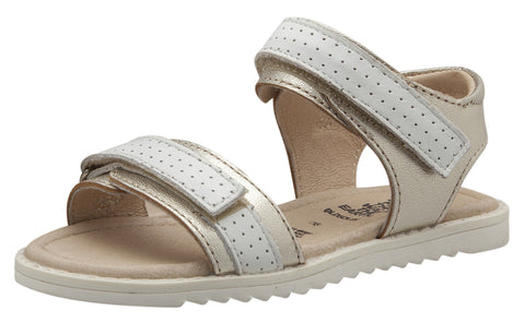 Old Soles 7016 Girl's Strapping S Sandal, Gold/Snow