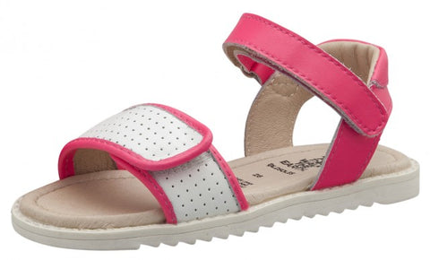 Old Soles Girls Sport-S Leather Sandals, Neon Pink/Snow