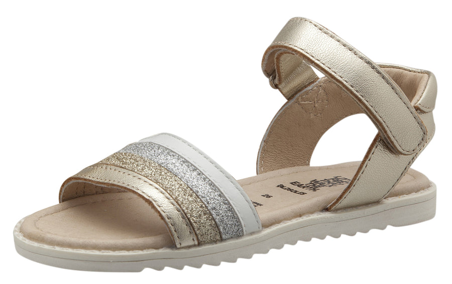 Old Soles Girls Colour Pot Leather Sandals, Gold/Glam Gold/Glam Silver/Snow