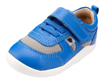 Old Soles Boy's and Girl's 8010 Cruzin Shoe - Neon Blue/Light Grey