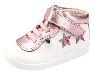 Old Soles Girl's 8011 Star Street Sneaker Shoes - Snow/Pink Frost/Glam Pink