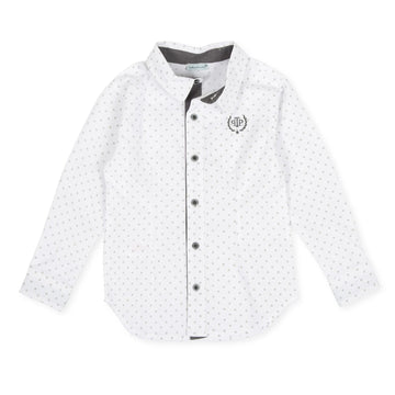 Tutto Piccolo 8022 Long Sleeve Shirt - White/Gray