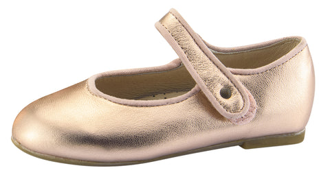 Old Soles Girl's Praline Lady Jane Leather Mary Jane Dress Shoes, Copper