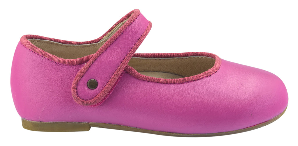 Old Soles Girl's Lady Jane Leather Mary Janes, Fuchsia