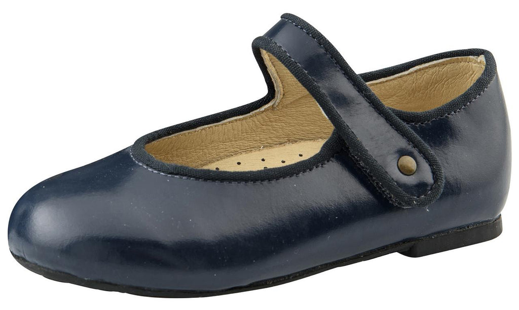 Old Soles Girl's Praline Lady Jane Leather Mary Janes, Baltic