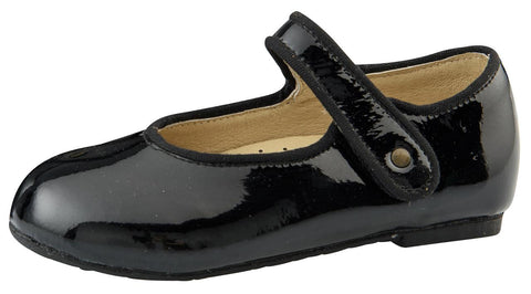 Old Soles Girl's Praline Lady Jane Leather Mary Janes, Black