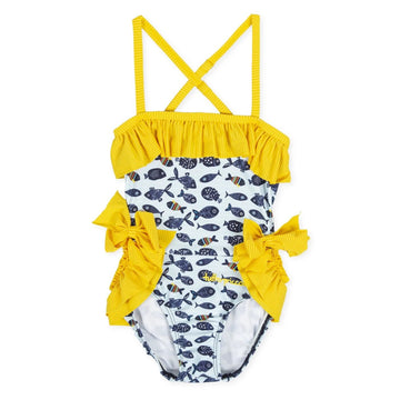 Tutto Piccolo Girl's Fish Swimsuit - Turquiose