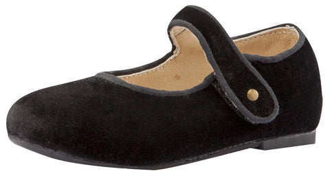 Old Soles Girl's Velvey Mary Jane Shoes, Black