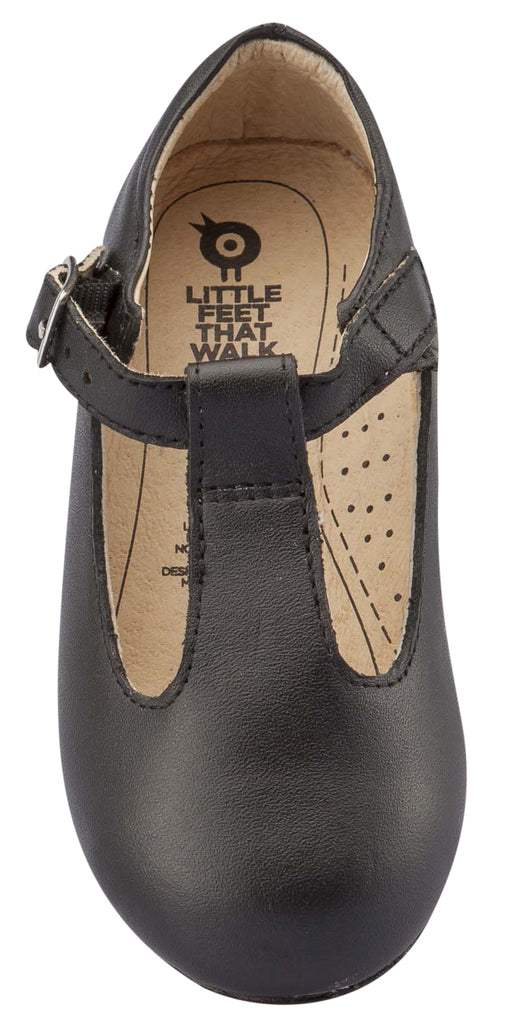 Old Soles Girl's T-Jane T-Strap Shoes, Black