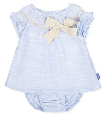 Tutto Piccolo Girl's 8210 Dress with Briefs - Blue