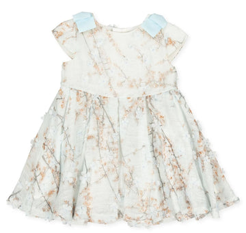 Tutto Piccolo Girl's Teal Pastel Floral Dress - Ceramic