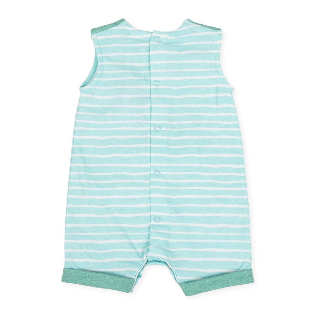 Tutto Piccolo Boy's & Girl's Teal Octopus Romper