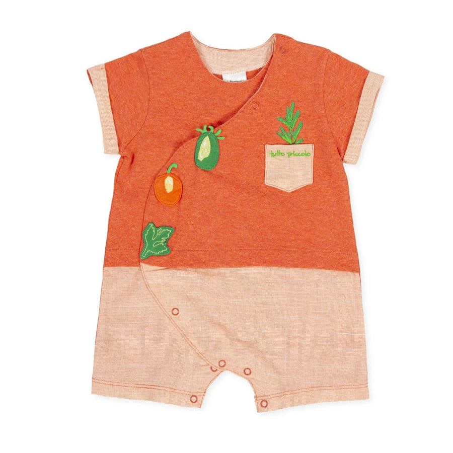 Tutto Piccolo Boy's & Girl's Coral Vegetable Romper