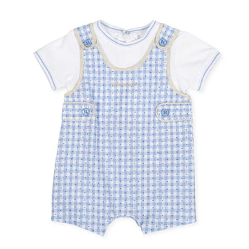 Tutto Piccolo Boy's & Girl's Blue Romper
