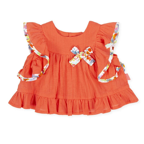 Tutto Piccolo Girl's Coral Blouse Tops