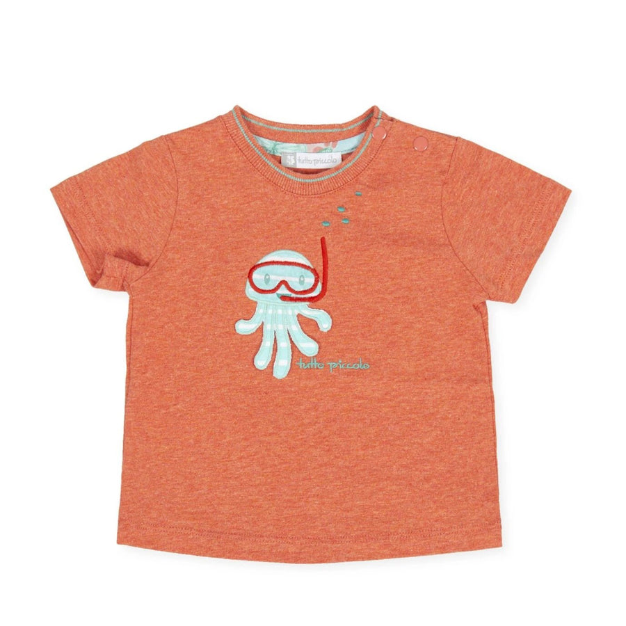 Tutto Piccolo Boy's & Girl's Orange T-shirt