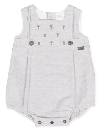 Tutto Piccolo Boy's & Girl's Gray Bubble Romper